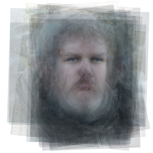 Overlay art – contemporary fine art prints of Hodor from Game of Thrones