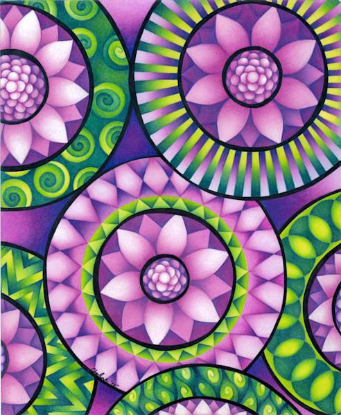 geometric, line art, colorful, swirls, pattern art, design art