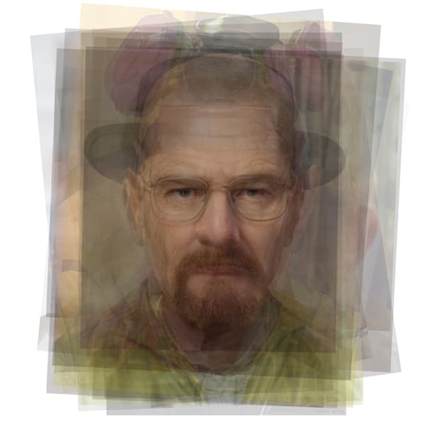 Overlay art – contemporary fine art prints of Walter White from Breaking Bad