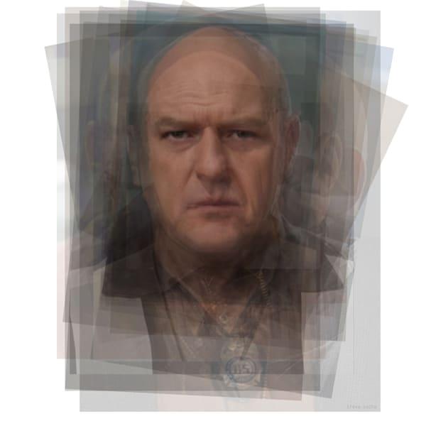 Overlay art – contemporary fine art prints of Hank Schrader from Breaking Bad