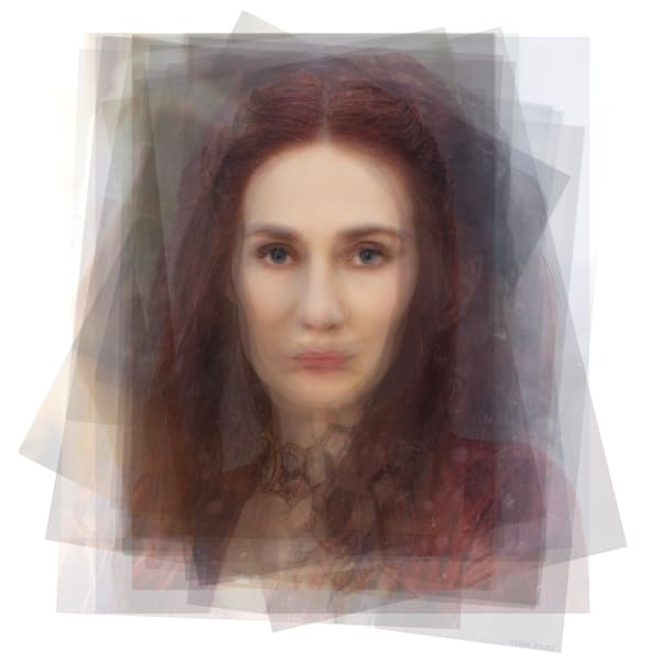 Overlay art – contemporary fine art prints of The Red Woman Melisandre