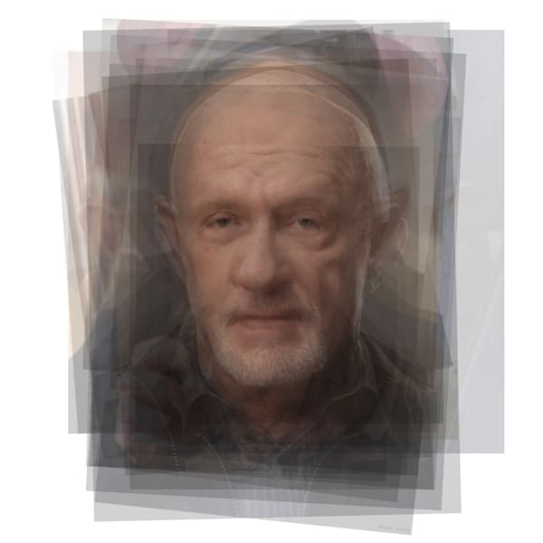 Overlay art – contemporary fine art prints of Mike Ehrmantraut Breaking Bad