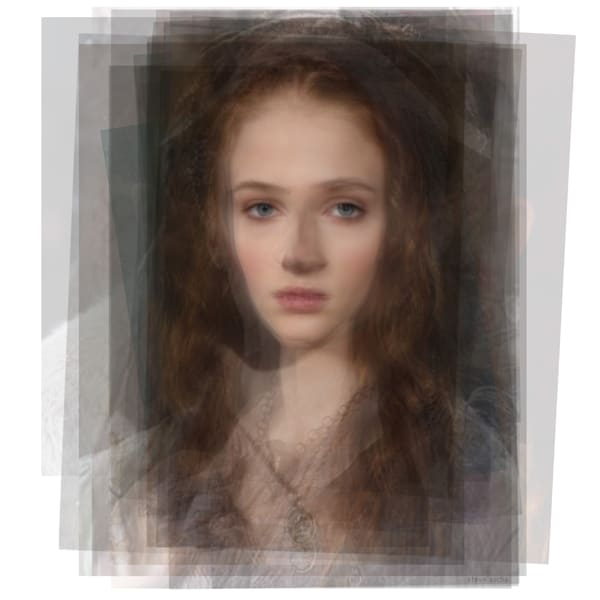 Overlay art – contemporary fine art prints of Sansa Stark from Game of Thrones