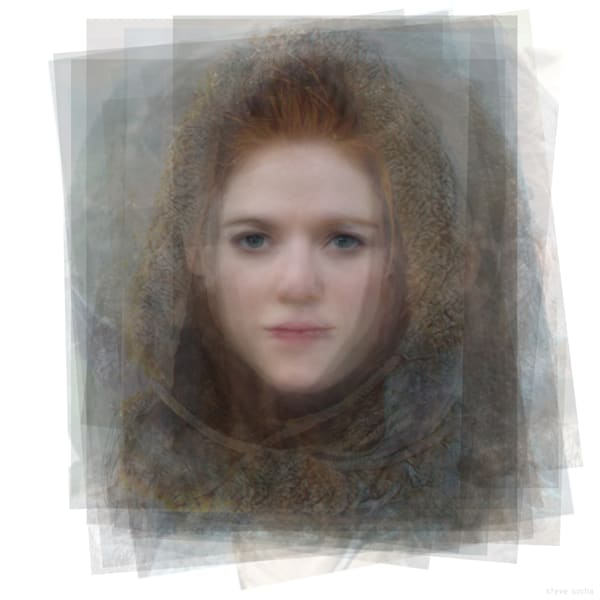 Overlay art – contemporary fine art prints of Ygritte from Game of Thrones