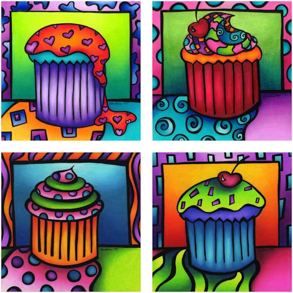 cupcakes, cupcake art, color pencil cupcakes, frosting