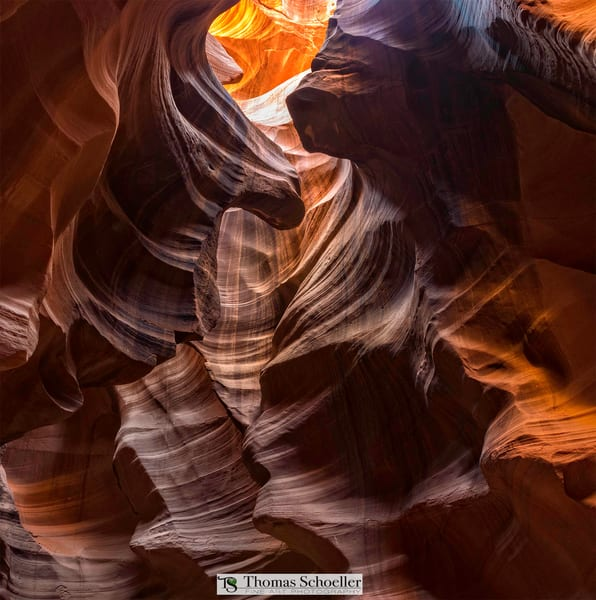 Eternal etchings in sandstone, Upper Antelope Canyon near Page Arizona
