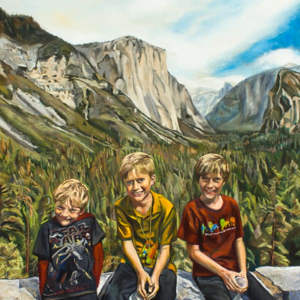 Boys at Yosemite Fine Art Print
