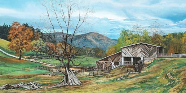 Appalachian Farm art print | Kevin Grass Fine Art