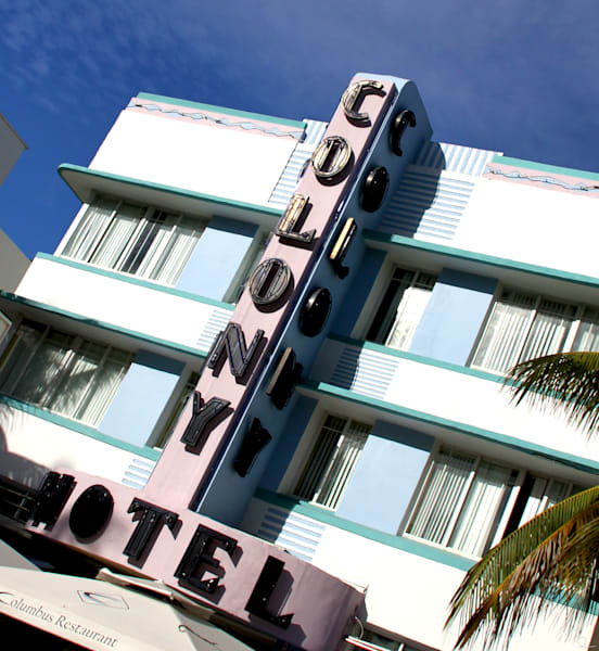 Colony Hotel, Ocean Boulevard, Miami, Sobe, fine art photographs for sale by Michael Toole