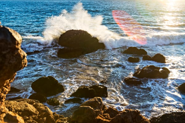 Crashed Waves At Point Dume Photograph For Sale As Fine Art