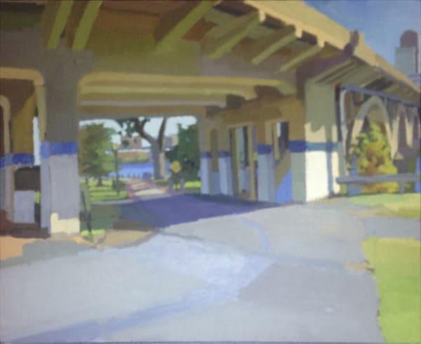 Shop for original paintings like North Little Rock Bike Path Broadway Bridge, oil on canvas by Shannon Rogers at Matt McLeod Fine Art Gallery.
