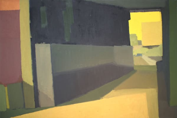Shop for original paintings like Highline Corridor 2, oil on canvas by Shannon Rogers at Matt McLeod Fine Art Gallery.