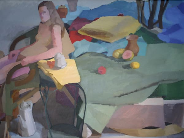 Shop for original paintings like Harmony in Washington Square Park Studio, oil on canvas by Shannon Rogers at Matt McLeod Fine Art Gallery.