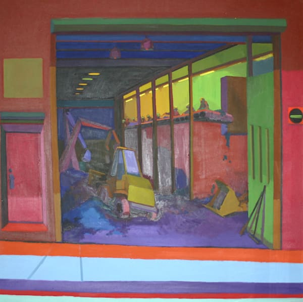 Shop for original paintings like Greenpoint Relay Station, oil on canvas by Shannon Rogers at Matt McLeod Fine Art Gallery.