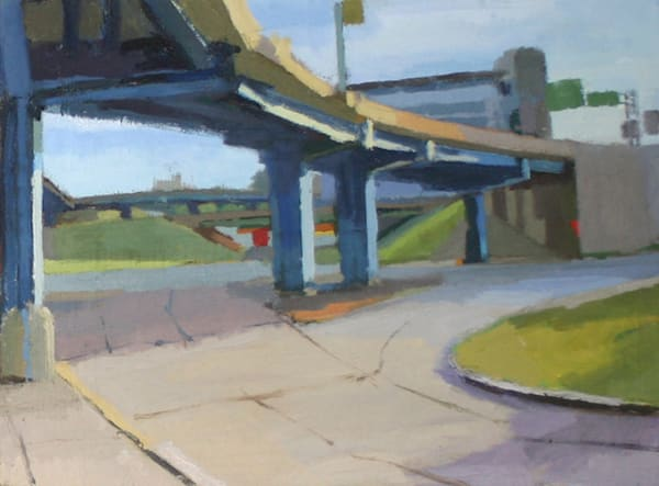 Shop for original paintings like East 2nd Street, Downtown Little Rock, oil on canvas by Shannon Rogers at Matt McLeod Fine Art Gallery.
