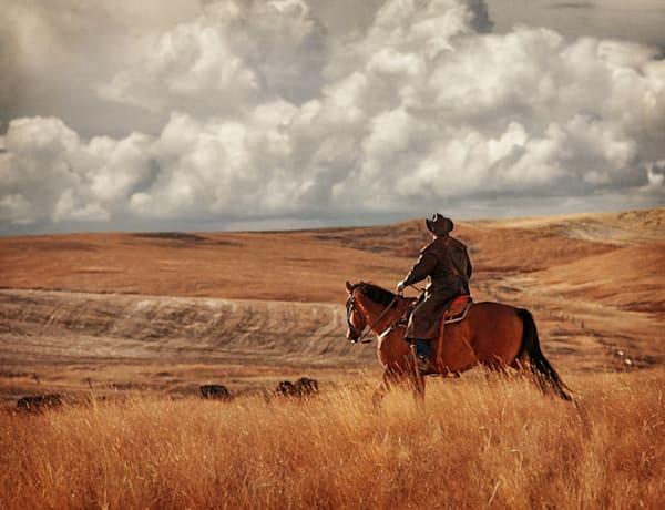 Cowboy on Prairie