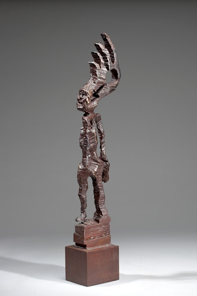 Shop for original metal sculptures like Arrowhead, by Jeff Waddle at Matt McLeod Fine Art Gallery.