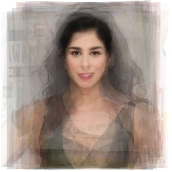 Overlay art – contemporary fine art prints of Sarah Silverman