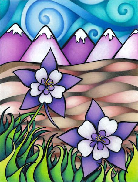 Landscapes, funky landscape art, color pencil landscape