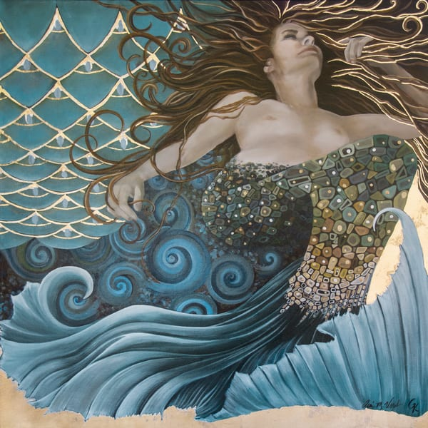 Designs by Teri | Teri Vereb Fine Art Paintings | Mermaid | Klimt