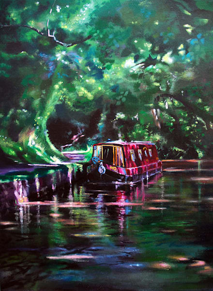 Art print Canal Scene Llangynidr