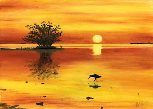 Orange Sunset Art | Blissful Bonita Art Studio & Gallery