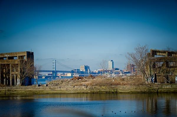 Philly Skyline Thru Graffiti Site Fine Art Photograph | JustBob Images