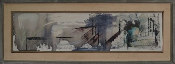Windswept 1959 oil on canvas. framed - Original