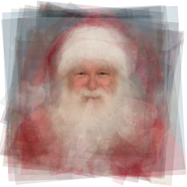 Overlay art – contemporary fine art prints of Santa Claus
