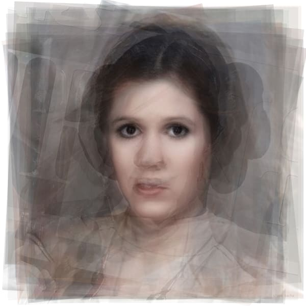 Overlay art – contemporary fine art prints of Carrie Fisher as Princess Leia
