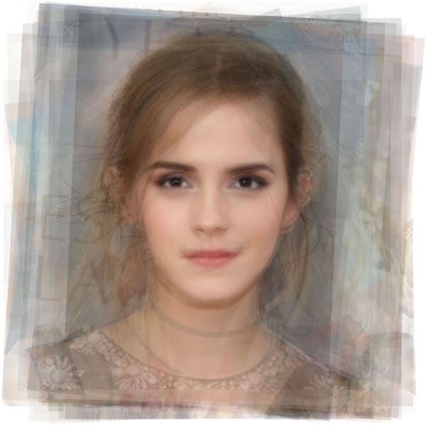 Overlay art – contemporary fine art prints of actress Emma Watson, who played Belle in Beauty and the Beast.