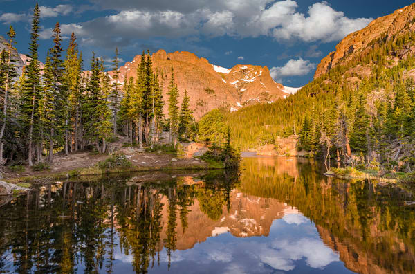 The Loch Reflecting on Alpine Lake Cove - Rocky Mountain National Park
