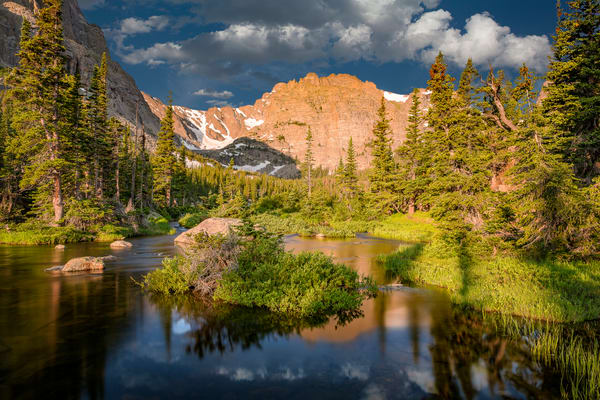 Long Exposure Photograph of The Loch Inlet - Rocky Mountain National Park, Colorado