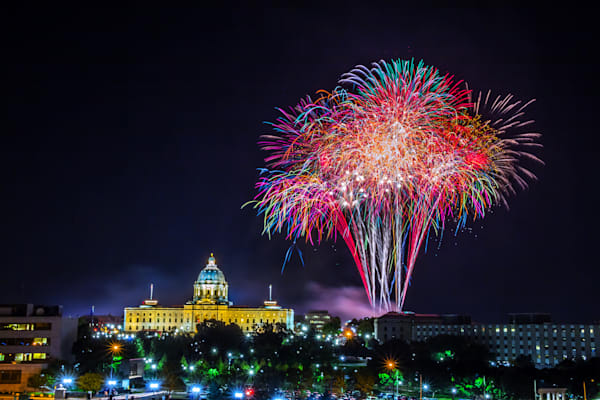 Minnesota Capitol Fireworks 7 | William Drew Photography