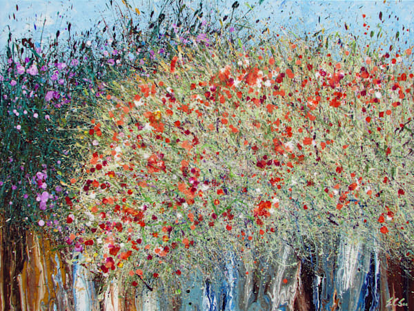 abstract wildflowers art, En Chuen Soo, Artist