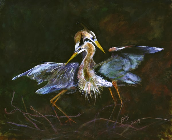 Herons Together Art | Blissful Bonita Art Studio & Gallery