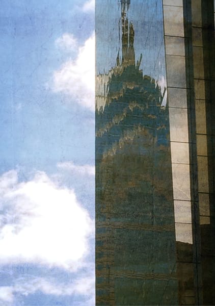 Cool Center City Glass Reflection Photo for Sale. Richard London