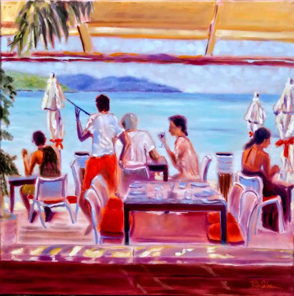 Waiting In Paradise | Print of Caribbean St. Barth's Restaurant