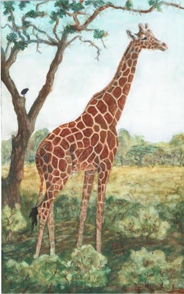 Giraffe Tall and Free 11 x 17