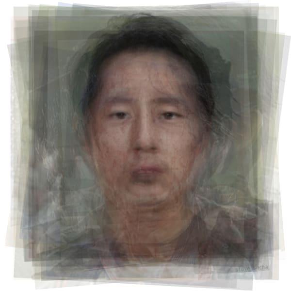 Overlay art – contemporary fine art prints of Glenn Rhee, the Walking Dead