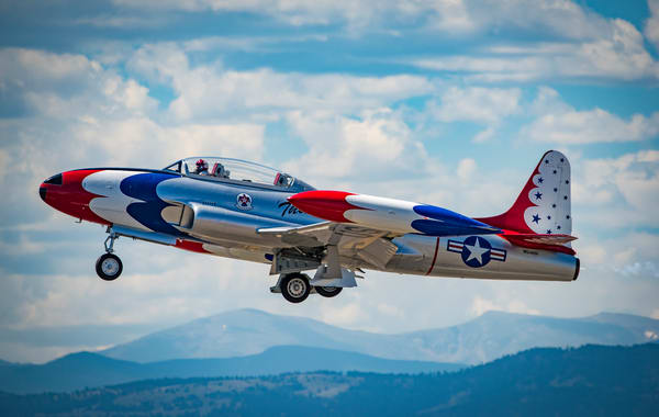 Wall Prints for sale of T-33A Shooting Star (T-Bird) American Jet Trainer