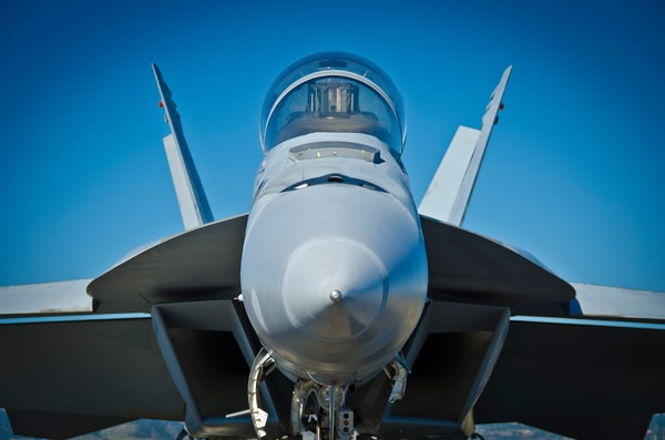 Photo of Front View of the McDonnell Douglas F-18 Hornet