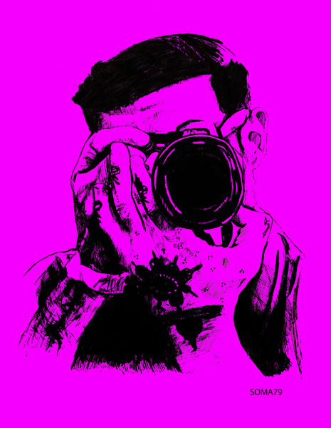 Man with Camera - Purple