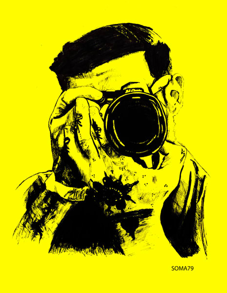 Man with Camera - Yellow