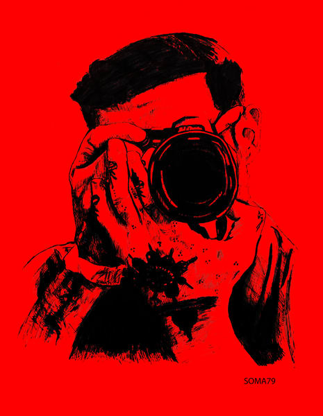Man with Camera - Red