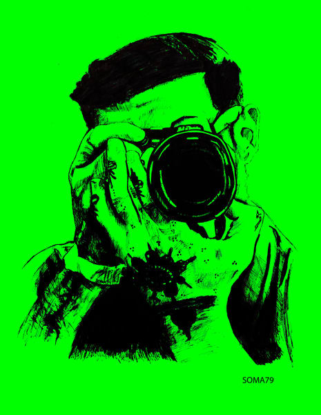 Man with Camera - Green