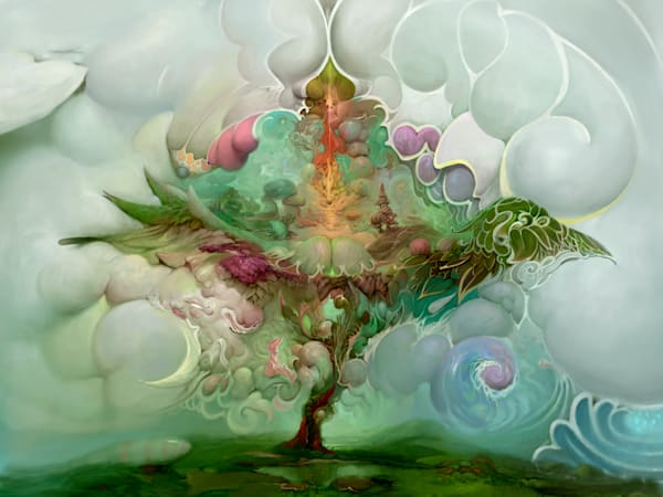 """TREE of LIFE,"" by Burton Gray, modern landscape painting."