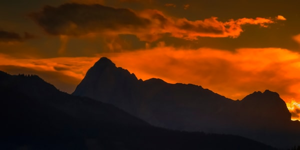 Fire in the Sky-Mt. Louis|Banff National Park|Rocky Mountains|Canadian Rockies|
