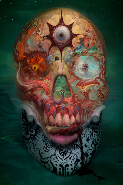 """SKULL,"" by Burton Gray - A Phantasmagoric Master Piece"