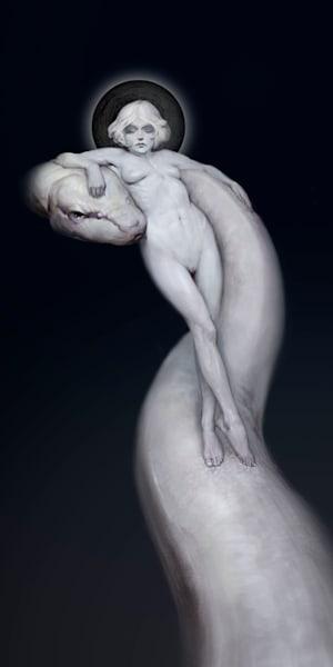 """REGINA DRACO,"" by Burton Gray, the Snake Queen"